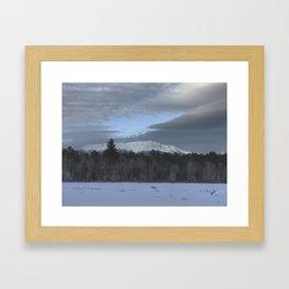 Snowy Katahdin Framed Art Print