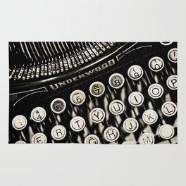 Underwood  typewriter Rug