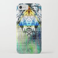 lion king iPhone & iPod Cases featuring KING LION by sametsevincer