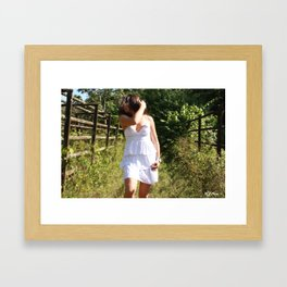 Impulsive touch Framed Art Print
