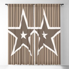 The Greatest Star! Coffee and Cream Blackout Curtain