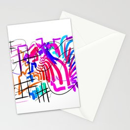 abstract splash Stationery Cards
