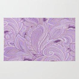 paisley purple Rug