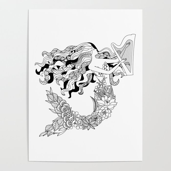 Humanimals: mermaid Poster