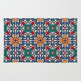 Colorful Azulejos Pattern Rug