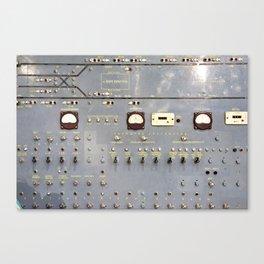 Retro control panel for trains in metro Canvas Print