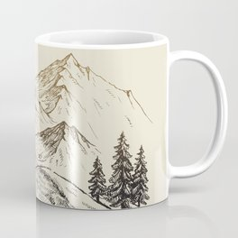 Vector of Mountain Landscape Coffee Mug