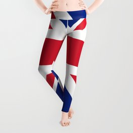red white and blue trendy london fashion UK flag union jack Leggings