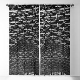 Union Train Station, Chicago, Illinois U.S. Air force Boeing B-17 Flying Fortress Ceiling Air force plane display black and white photograph Blackout Curtain