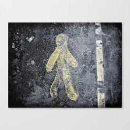 Yellow BituMan Canvas Print