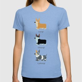 corgi, siborgi, and cybogi T-shirt
