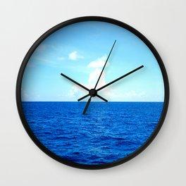 Serene Blue Water Wall Clock