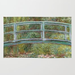 Monet, Water Lilies and Japanese Bridge, 1854 Rug