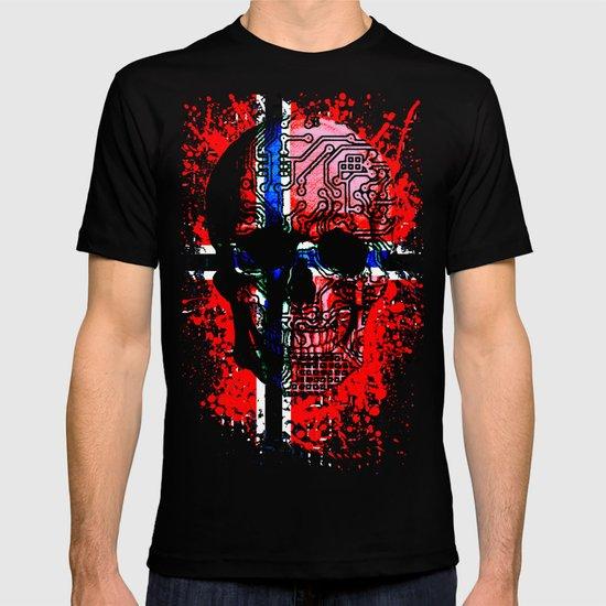 Skull circuit (norway-flag) T-shirt
