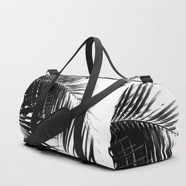 Palm Leaves Black & White Vibes #3 #tropical #decor #art #society6 Duffle Bag