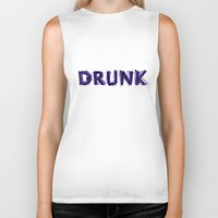 hemingway Biker Tanks featuring Write Drunk Edit Sober by marianadegogo
