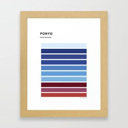 The colors of - Ponyo Framed Art Print
