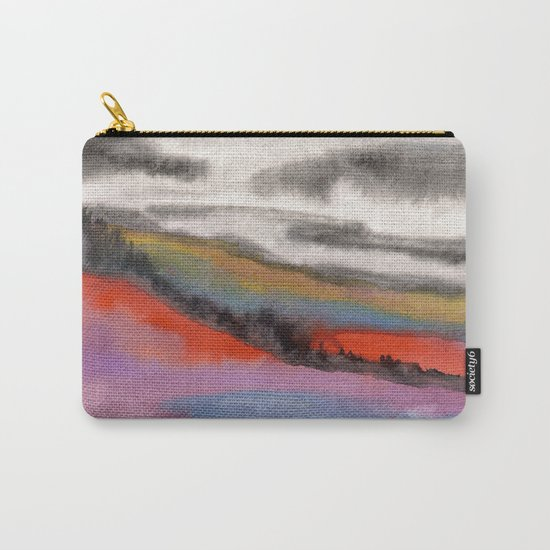 Watercolor abstract landscape 05 Carry-All Pouch