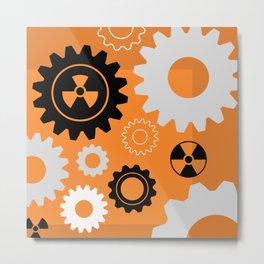 Hazardous Machinery Metal Print