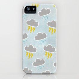 Rainy Day (Blue) iPhone Case