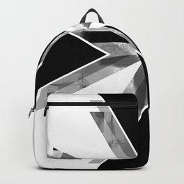 Three Triangles Geometric in B&W Backpack