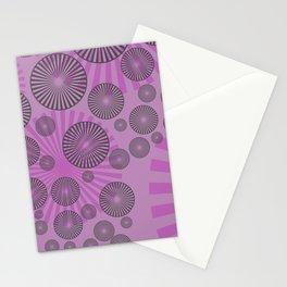 Space Spirals pink design Stationery Cards