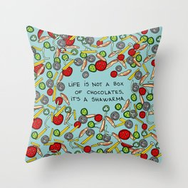 Life is a shawarma  Throw Pillow