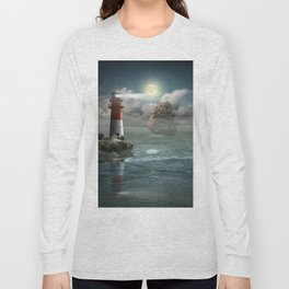 Lighthouse Under Back Light Long Sleeve T-shirt