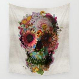 Flower skull wall tapestries society6 mightylinksfo