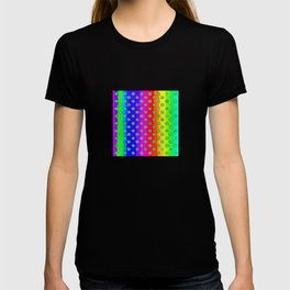Rainbow and green flowers T-shirt