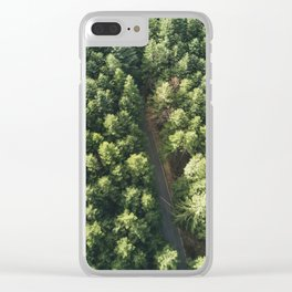 Green forest from above Clear iPhone Case