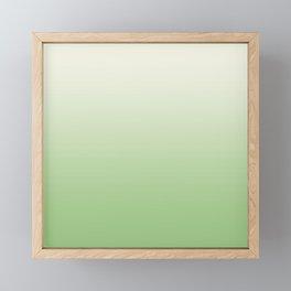 Ombre Paradise Green Pale Creme Framed Mini Art Print