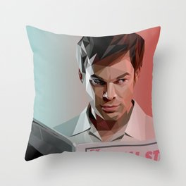 Low Poly Dexter Throw Pillow