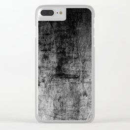 Silver Textured Concrete Pattern Clear iPhone Case