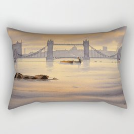 Tower Bridge and St Paul's Cathedral London Rectangular Pillow
