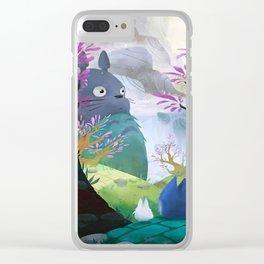 ghibli art Clear iPhone Case