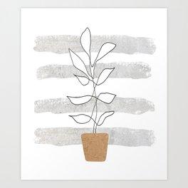 Scandi Plant Art Print
