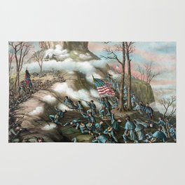 Battle of Lookout Mountain -- Civil War Rug