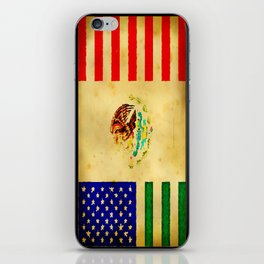 MEXICAN AMERICAN FLAG - 017 iPhone Skin