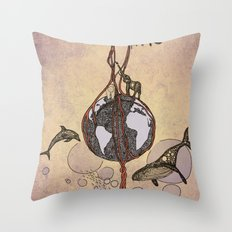 Earth melody Throw Pillow