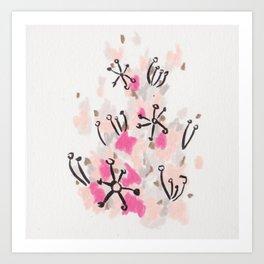 Pink Fluff Art Print