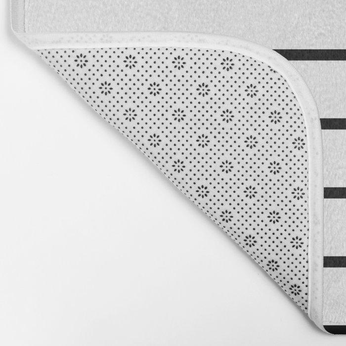 Minimalist Stripes Bath Mat