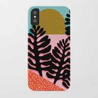 coachella iPhone & iPod Cases featuring B.F.F. - throwback 80s style memphis design neon art print hipster brooklyn palm springs resort patt by Wacka
