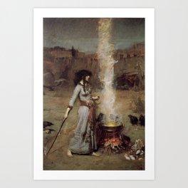 The Magic Circle, John William Waterhouse Art Print