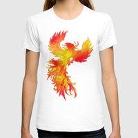 phoenix T-shirts featuring Phoenix by Paula Belle Flores