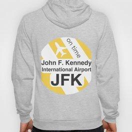 JFK Round yellow Hoody