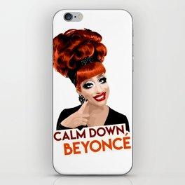 """Calm Down Bey!"" Bianca Del Rio, RuPaul's Drag Race Queen iPhone Skin"