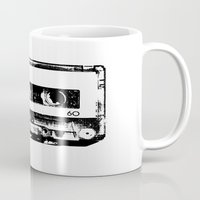 cassette Mugs featuring cassette by Gabriel
