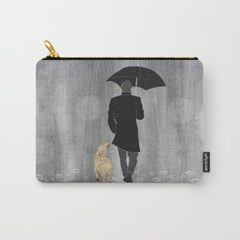 Dog walk in rain Carry-All Pouch
