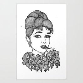 Ms Hepburn Art Print